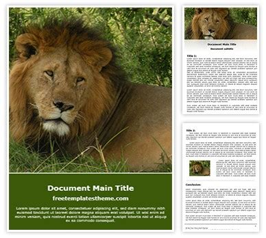 lion word template freetemplatesthemecom