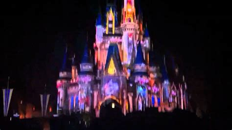 disney world light show disney world castle light show youtube