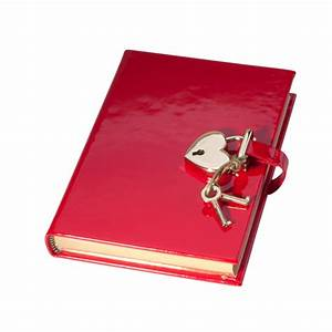 Heart Lock Diary  Faux Patent Leather