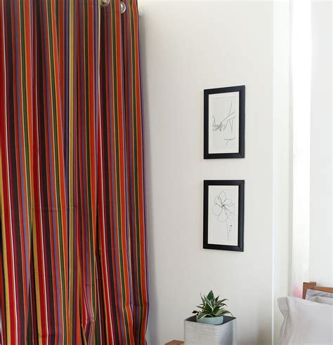 multi color curtains stripe cotton curtain multi color thoppia