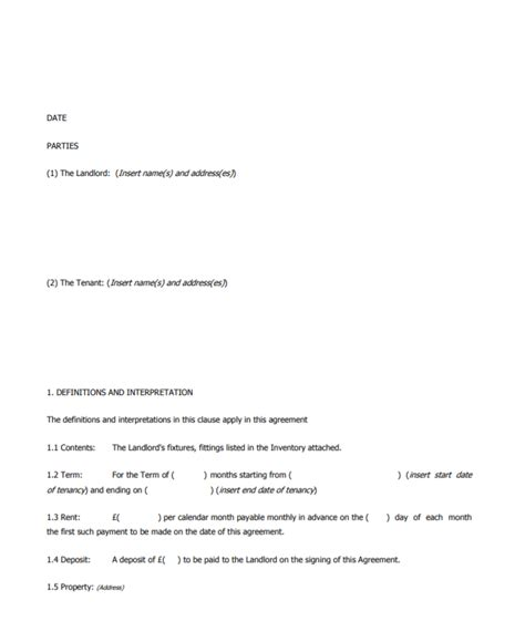 business lease agreement templates poster template