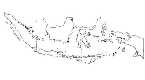 blank outline map  indonesia schools