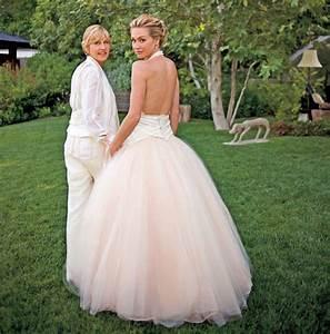 ellen degeneres and portia de rossi red carpet wedding With portia de rossi wedding dress