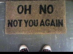 oh not you again doormat warning humor ahead erika brechtel