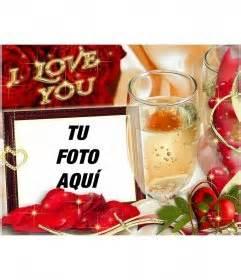tarjeta  enamorados  el texto  love  fotoefectos