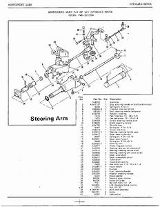 7 5hp Outboard Motor  Steering Arm Diagram  U0026 Parts List For Model 52179a Mercury