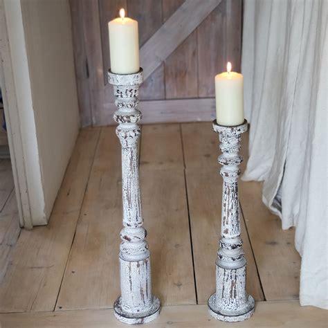 floor candle holders burnt white floor candle holders doris and boris