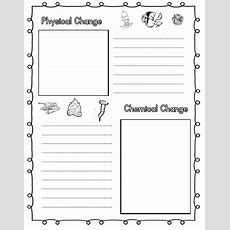 Physical And Chemical Changes  Tj Homeschooling