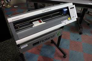 ROLAND CAMM 1 SERVO GX 24 SIGN MAKER W STAND Able Auctions