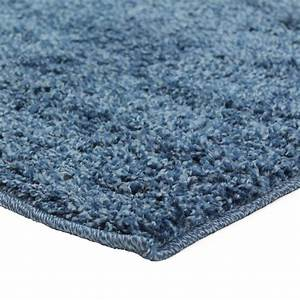 tapis de salon shaggy carre bleu 200x200cm With tapis shaggy avec canapé darty
