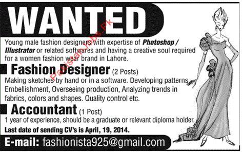 fashion designer description fashion designer requirements home design ideas