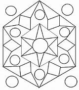Rangoli Coloring Pages Printable Templates Designs Diwali Drawing Patterns Simple Geometric Dots Pdf Pattern Shapes Colors Printables Adult Fill sketch template