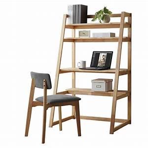 Schreibtisch Mit Stuhl : scandi schreibtisch im regal mit stuhl aus holz rubberwood ~ A.2002-acura-tl-radio.info Haus und Dekorationen
