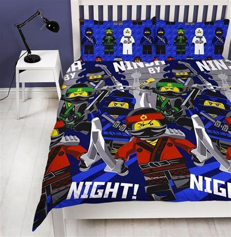 Reversible New Ninjago Movie Lego Duvet Cover Bedding Set