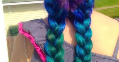 """Mermaid Hair! #ombre We Used """"splat"""" Hair Dyes In Berry"""