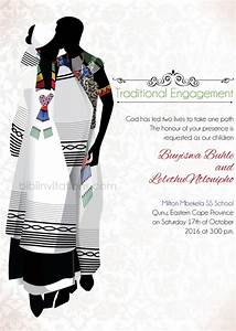 bathandwa xhosa tradtional wedding invitation With xhosa traditional wedding invitations
