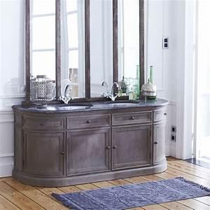 meuble avec double vasque en chene 180 louise double With meuble salle de bain largeur 180