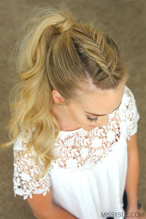 best 25 simple ponytail hairstyles ideas on