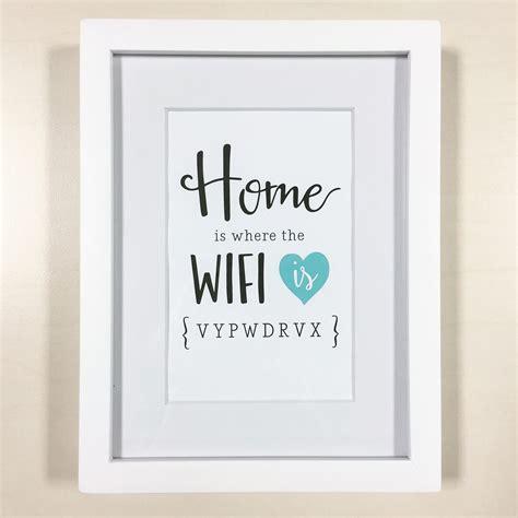 wifi home home is where the wifi is print charm tree