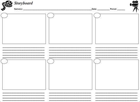 Storyboard Template Storyboard Template Printable Pdf Word Find All