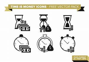 Time Is Money Icons Free Vector Pack - Download Free ...