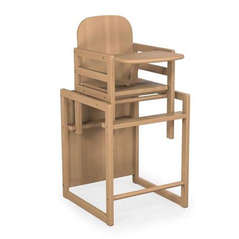 chaise haute en bois bébé chaise haute baby fox évolutive bois vernis marron achat