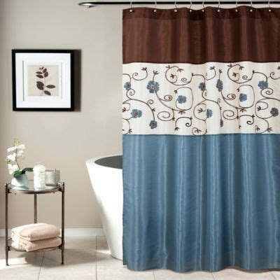 Blue And Brown Drapes - buy blue and brown curtains from bed bath beyond