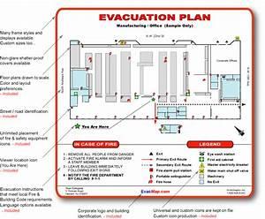Office emergency evacuation plans evacuation maps for Fire evacuation plan template for office