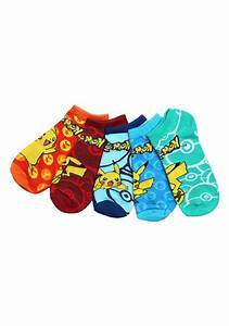 pokemon pikachu ankle socks 5 pack