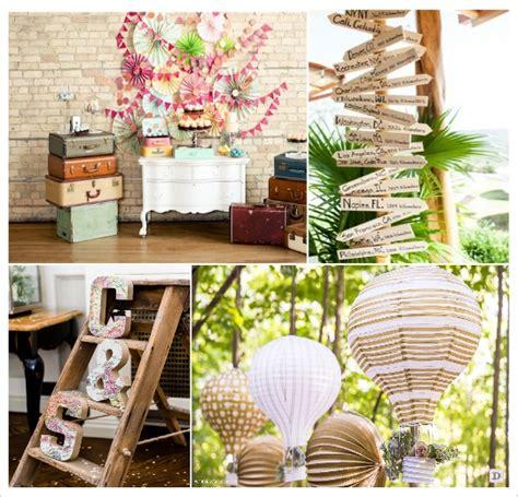 decoration voyage autour du monde mariage theme voyage idees