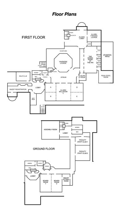 floor plans psu floor plans and event facilities in central pa the nittany lion inn the official site