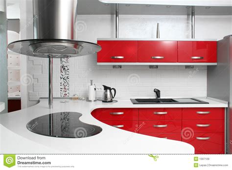 red kitchen royalty  stock images image