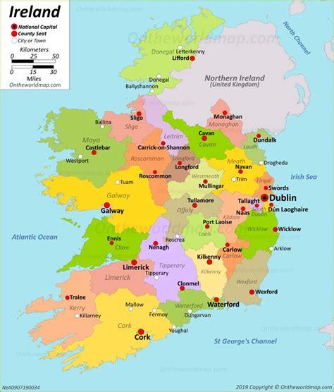 ireland maps maps  republic  ireland