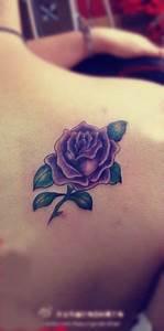 Purple rose tattoo, gorgeous!! | Tattoo Likes & Ideas ...