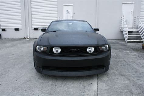 Ford Mustang Matte Black Car Wrap Fort Lauderdale Florida