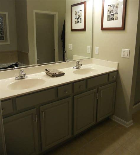 Master Bath: Cabinets   Fieldstone; Walls, Revere Pewter