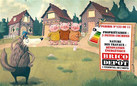 brico depot et les 3 petits cochons