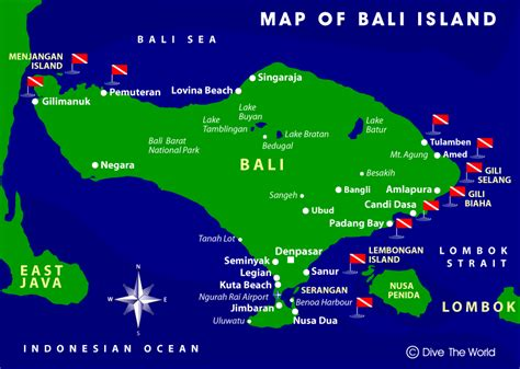 map  bali dive  world indonesia