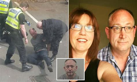 Police tackle killer husband who strangled wife with ...