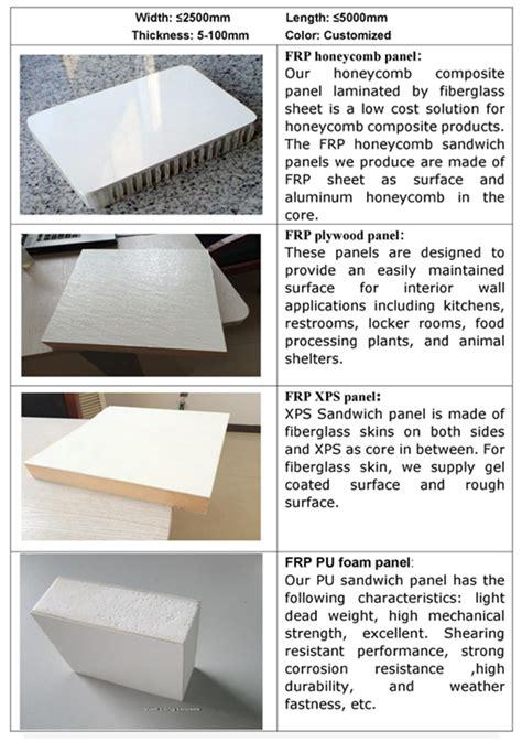 waterproof fireproof fiber glass reinforced plastic frpgrp pu foam core wall panel