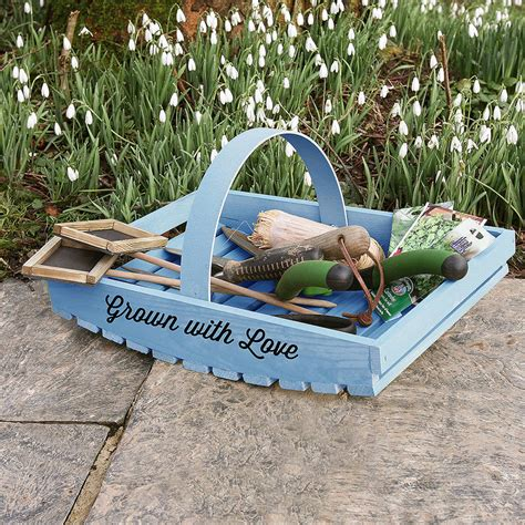 personalised garden trug by plantabox notonthehighstreet com