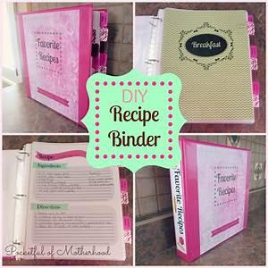 diy recipe binder pocketful of motherhood With homemade cookbooks template