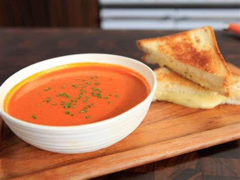 tex mex tomato soup  grilled cheese recipe rachael