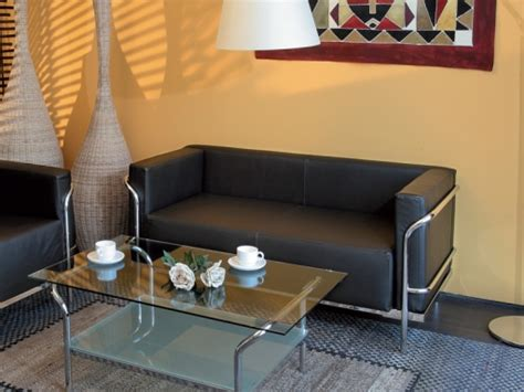 canapé bureau canapé d 39 accueil 2 places majesty en cuir