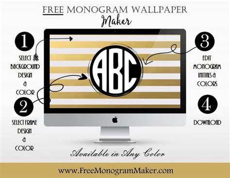 monogram wallpaper maker customize