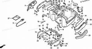 Honda Motorcycle 1989 Oem Parts Diagram For Trunk Inner Body