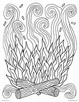 Coloring Campfire Fire Printable Colouring Smoke Adults Camp Log Spring Earth Try Visit Monster sketch template