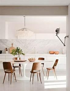 la salle a manger scandinave en 67 photos archzinefr With salle À manger contemporaineavec chaise blanche cuisine
