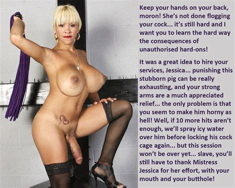 mistress jessica in gallery she makes me take shemale cock 5 femdom shemale captions