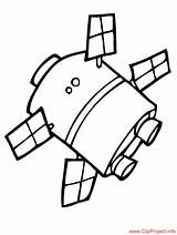 Satellite Coloring Pages Space Sheet Drawings Children Spaces Sheets 84kb 973px sketch template